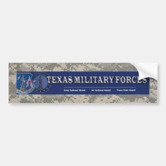 digitale, Texas militaire krachten Bumpersticker