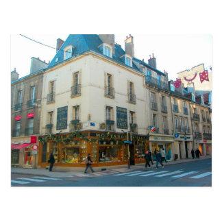 Dijon, Bourgondië, Frankrijk, de winkel van de Briefkaart