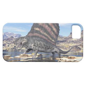 Dimetrodon die zich in een vijver in de woestijn barely there iPhone 5 hoesje