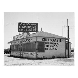 Diner van de kant van de weg, 1939 briefkaart