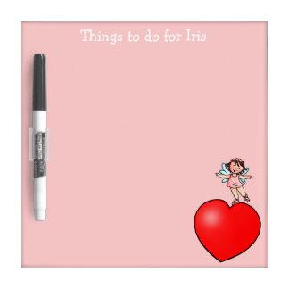Dingen om Raad te doen - Weinig Danser op Rood Whiteboards