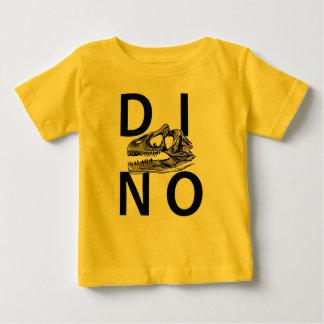 DINO - de Gele T-shirt van Jersey van het Baby
