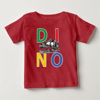 DINO - de Rode T-shirt van Jersey van het Baby