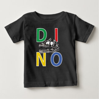 DINO - de Zwarte T-shirt van Jersey van het Baby