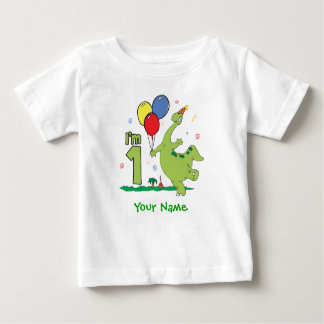 Dino First Birthday Personalized Baby T Shirts