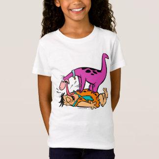 Dino Licking Fred Flintstone T Shirt