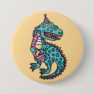 Dinosaurus & Roomijs Ronde Button 7,6 Cm