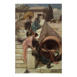 Diogenes door John William Waterhouse Poster