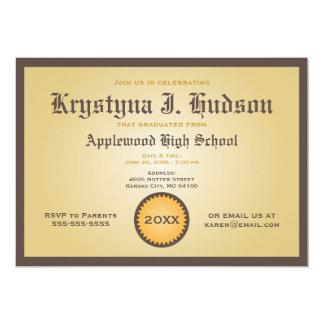 Diploma - de Uitnodiging van de Partij van de