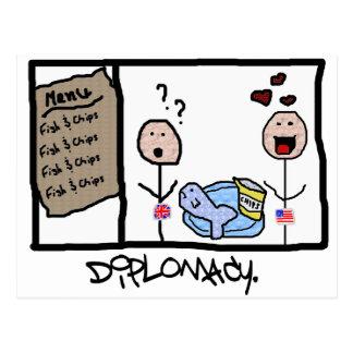 Diplomatie: Vissen & Spaanders Briefkaart