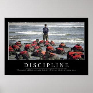Discipline: Inspirerend Citaat Poster