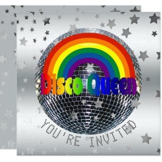 Disco de Partij van Koningin Dance Verjaardag   Kaart