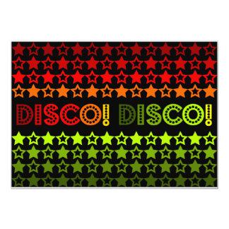 Disco! Disco! Uitnodiging/Aankondiging Kaart