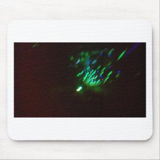 disco groene uitbarsting bij nacht muismatten