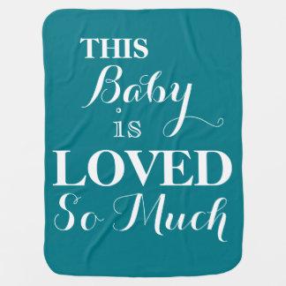 Dit Baby wordt gehouden zo van Veel Blauwe Deken Inbakerdoek
