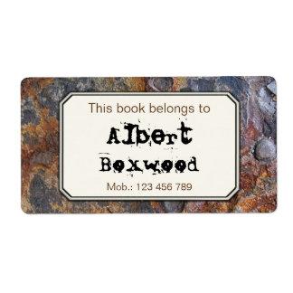 Dit Boek behoort tot de Textuur van de Rots van de Etiket