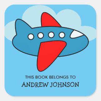Dit boek behoort tot vliegtuig bookplate stickers