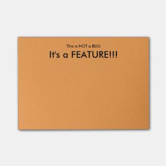 """""""Dit is de Kleverige nota's Van geen Insect"""" Post-it® Notes"""