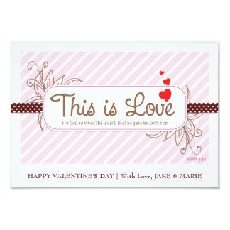 DIT IS (de Roze) Kaart van de Valentijnskaart van Gepersonaliseerde Uitnodigingen
