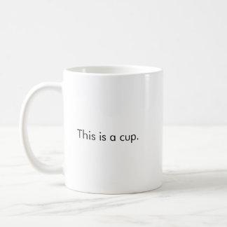 Dit is een mok van de kopkoffie