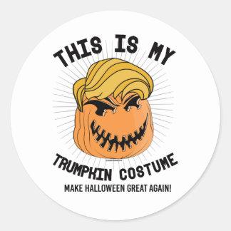 Dit is mijn Kostuum Trumpkin - maak Halloween Ronde Stickers