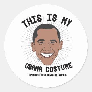 Dit is mijn Kostuum van Barack Obama - ik kon niet Ronde Sticker