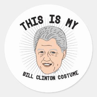 Dit is mijn Kostuum van Bill Clinton -- Verkiezing Ronde Sticker