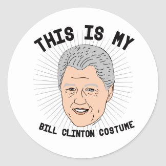 Dit is mijn Kostuum van Bill Clinton -- Verkiezing Ronde Stickers