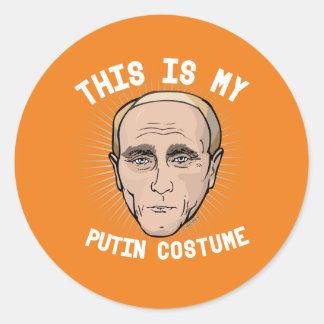 Dit is mijn Kostuum van Vladimir Putin - Politieke Ronde Sticker