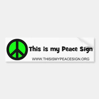 Dit is Mijn Teken van de Vrede Bumpersticker
