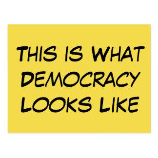 """""""Dit is wat de Democratie als"""" Politieke Msg. Briefkaart"""