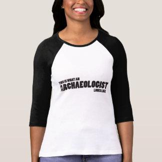 """""""Dit is wat een archeoloog als"""" Raglan kijkt T Shirt"""