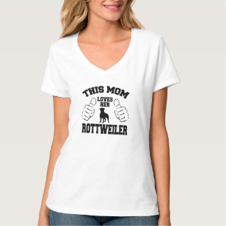 Dit Mamma houdt van haar Rottweiler T Shirt