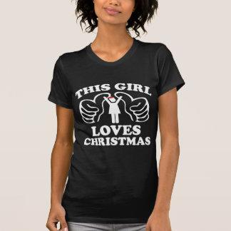 Dit Meisje houdt van Kerstmis T Shirt