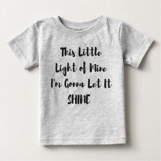 Dit Weinig Licht van de T-shirt van het Baby van