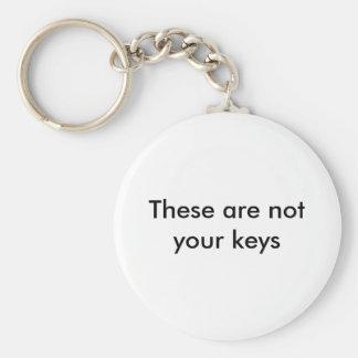 Dit zijn niet uw sleutels sleutelhanger
