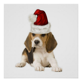 Ditzy Dogs~Original Poster~Beagle~Christmas Poster