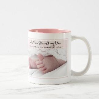 Diva de Gift voor Nieuw grootouder-het is een Tweekleurige Koffiemok
