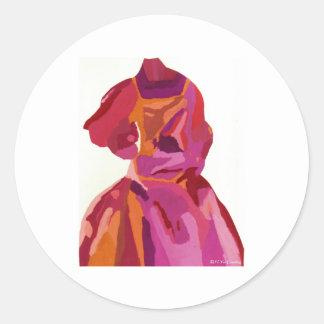 Diva de Rood van de Herfst van Fashionista Ronde Sticker