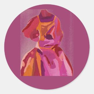 Diva de Rood van de Herfst van Fashionista Ronde Stickers