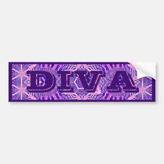 Diva de Sticker van de Bumper van Personalisable