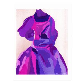 Diva Fashionista in Blauw Briefkaart