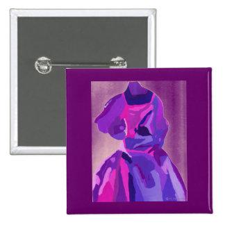 Diva Fashionista in Blauw Vierkante Button 5,1 Cm