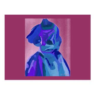 Diva Fashionista in Blauwe I Briefkaart