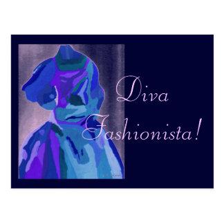 Diva Fashionista in Blauwe I Wens Kaart