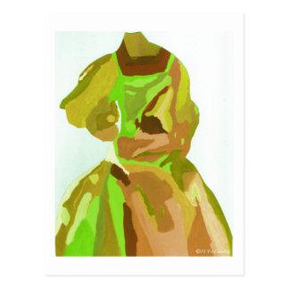 Diva Fashionista in de Lente Briefkaart