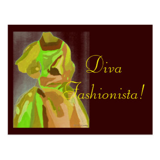 Diva Fashionista in de Lente Wens Kaarten