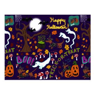 Diva Halloween van de Tekkel Briefkaart