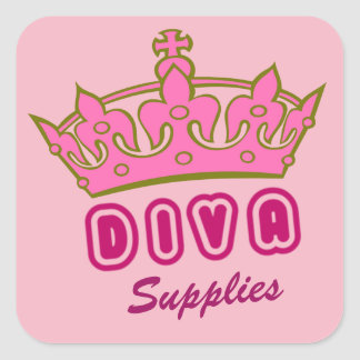 Diva Levering Vierkante Sticker