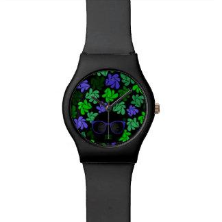 Diva van Afro Groen & Blauw Horloge